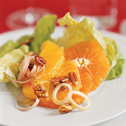 """Lettuce, Orange, and Pecan Salad"""