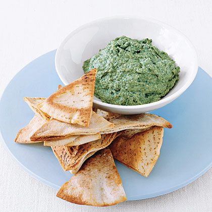 Combine store-bought hummus and frozen spinach for a super-easy dip.Last-Minute Spinach Dip Recipe