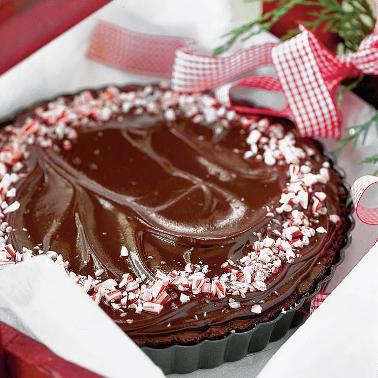 Peppermint Brownie Tarts