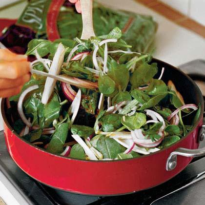 Spinach-Endive Salad With Warm Vinaigrette