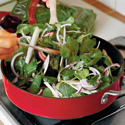 Spinach-Endive Salad With Warm Vinaigrette Recipe