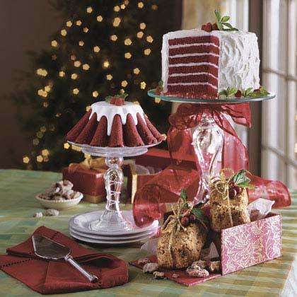 Fluted Chocolate-Red Velvet Cakes Recipe