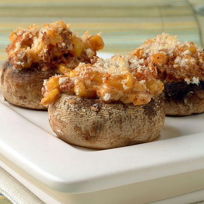 Creamy Corn and Chorizo-Stuffed Mushrooms
