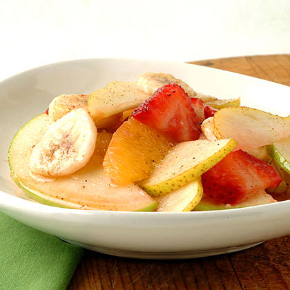 Fresh Fruit Salad with Nutmeg-Cinnamon Syrup Recipe