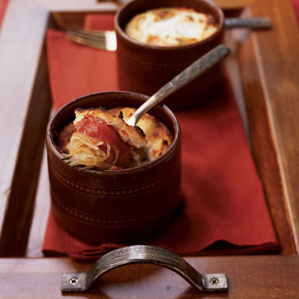 Spaghetti Squash Gratins with Chunky Tomato Sauce