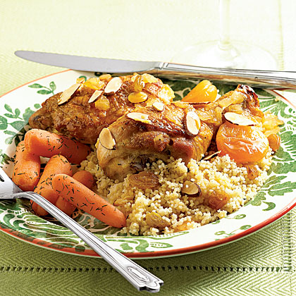 Pan-Braised Chicken with Apricots Recipe
