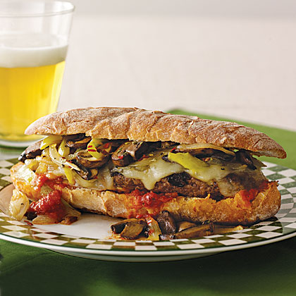 Italian Patty-Melt Hoagie