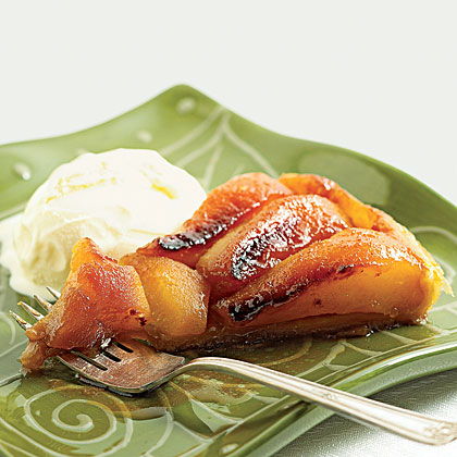 Upside Down Pear and Apple Tart