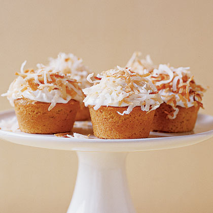 Mini Lemon-Coconut Cupcakes
