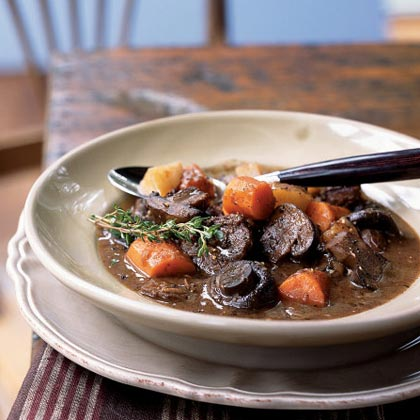 Basic Beef Stew with Carrots and MushroomsRecipe