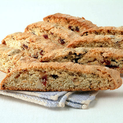 Orange-Infused Cherry-Almond Biscotti RecipeYou can make these cookies up to a week ahead and store them at room temperature in an airtight container. When buying dried cherries, look for those without added sugar. Serve with coffee or tea.