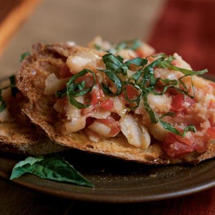 Tomato and Bean Bruschetta Recipe