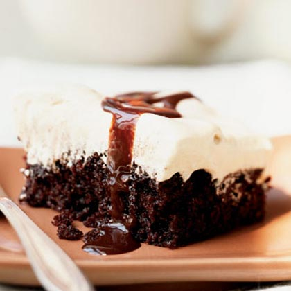 One-Bowl Chocolate Mocha Cream Cake RecipeThis easy chocolate sheet cake was a dessert category winner in the Cooking Light recipe contest and continues to be one of the most popular cake recipes on the site.