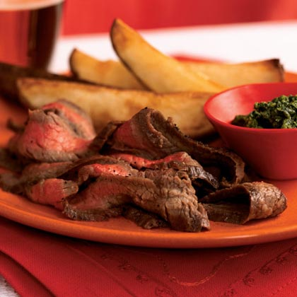 Broiled Flank Steak with Salsa Verde