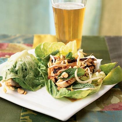 Asian Chicken Lettuce WrapsRecipe
