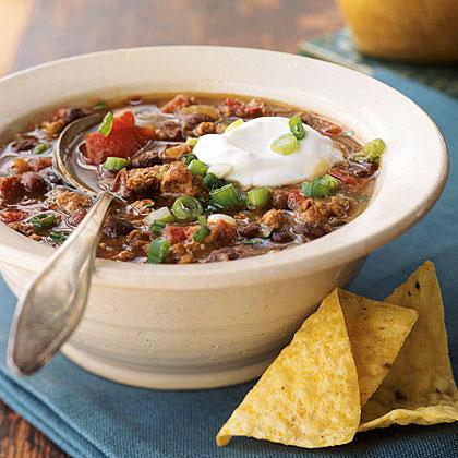Mexican Black Bean Sausage Chili Recipe | MyRecipes