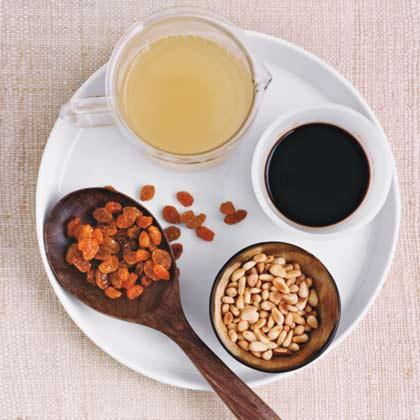 Balsamic, Raisin, and Pine Nut SauceRecipe