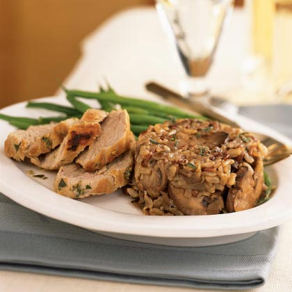 Wild Mushroom and Rice Timbales