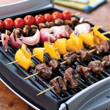 Classic Beef Shish Kebabs RecipeThe trick with this shish kebab recipe is to cook the beef separately from the vegetables so nothing overcooks. You can prepare this recipe on an electric grill pan, charcoal or gas grill.