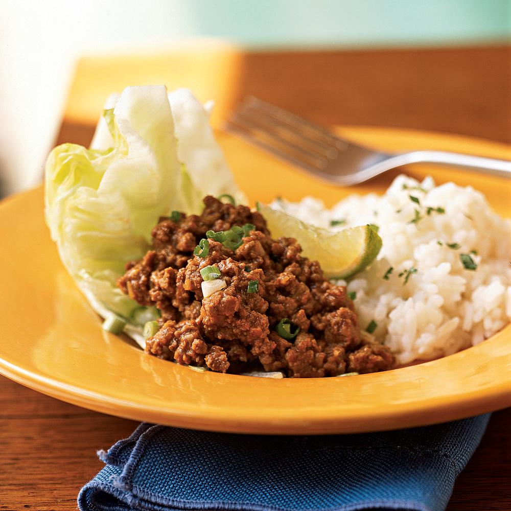Thai style ground beef recipe myrecipes thai style ground beef forumfinder Images