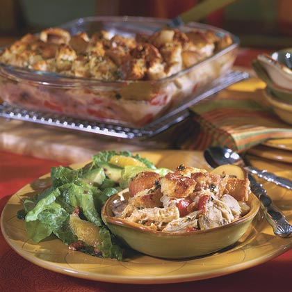 Chicken Cobbler Casserole