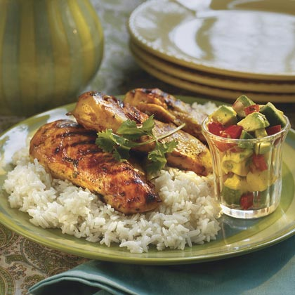 Margarita-Marinated Chicken With Mango Salsa