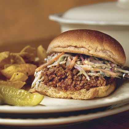 Sloppy José Sandwiches With Cilantro Slaw