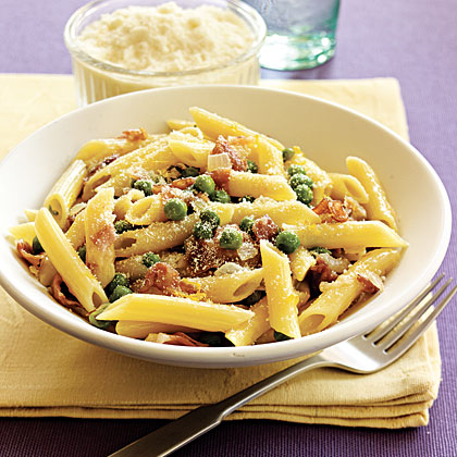 Penne with Sweet Peas and Prosciutto