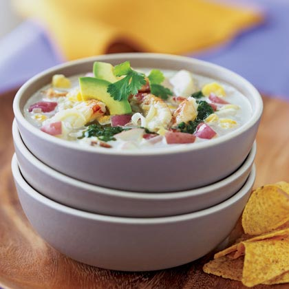 Crab and Hominy Chowder