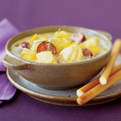 Halibut and Sweet Potato Chowder