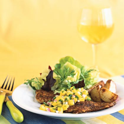 Blackened Yellowtail Snapper with Mango Salsa Recipe