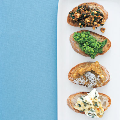 Smashed Peas with Mint Bruschetta Recipe