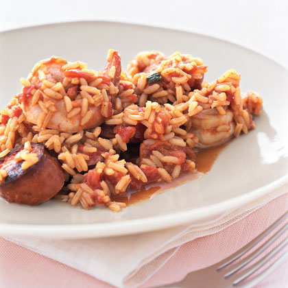 This favorite Cajun dish tastes amazing, yet calls for just six ingredients. For a low-fat version, substitute turkey kielbasa for the regular variety.Recipe: Jambalaya