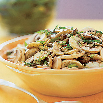 Mushroom Salad with Scallions Recipe