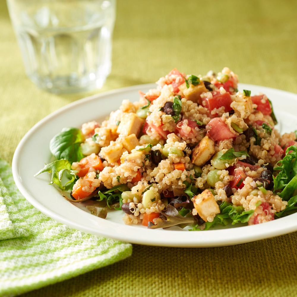 Black Bean-Quinoa Salad with Basil-Lemon Dressing