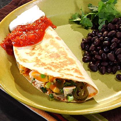 <p>Spicy Chicken Quesadillas</p>