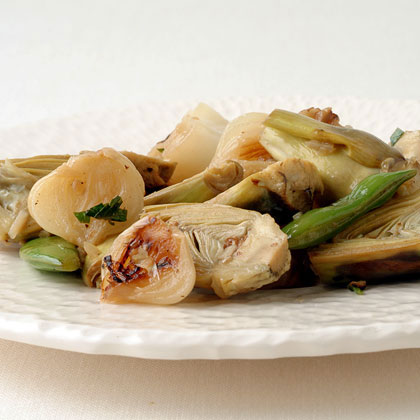 Artichoke, Chanterelle, and Cipollini Sauté Recipe