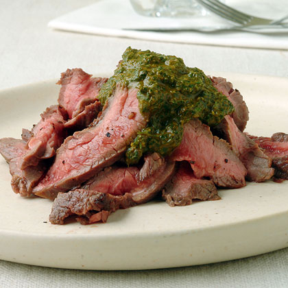 Pan-Grilled Flank Steak with Chermoula Recipe