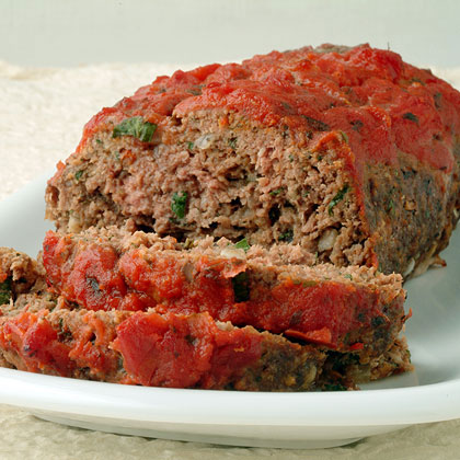 Italian-Style Meat Loaf RecipeMeatloaf takes on the flavors of Italy when jarred tomato sauce, Parmesan cheese, and herb laced bread crumbs are mixed with lean ground meat. The prep takes just minutes but the moist, flavorful end product makes it seem like you spent hours in the kitchen.