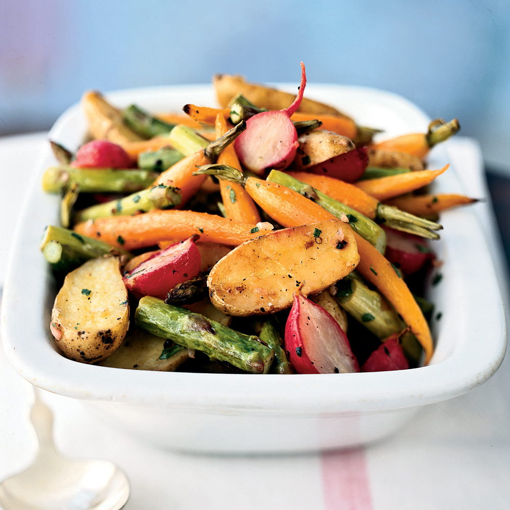 Roasted Baby Spring Vegetables Recipe | MyRecipes