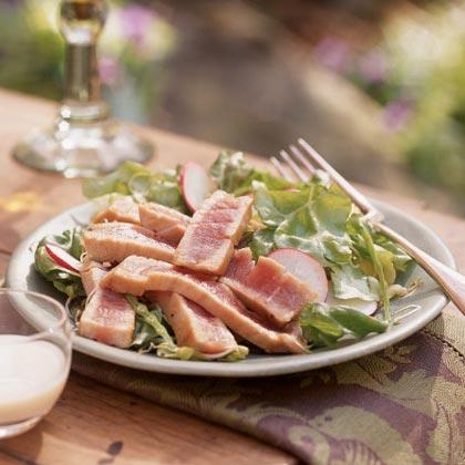 Seared Tuna and Radish Salad with Wasabi Dressing