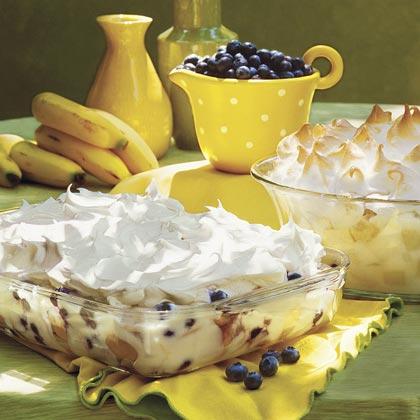 Blastin' Banana-Blueberry Pudding
