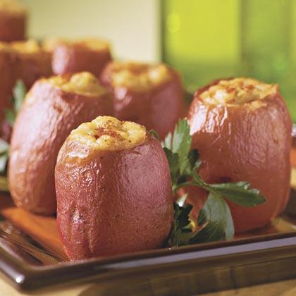 Southwest Twice-Baked New Potatoes Recipe