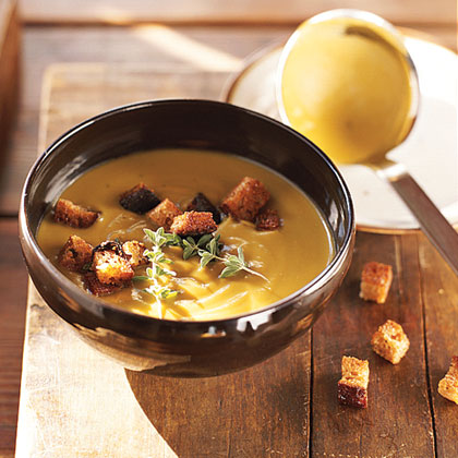 Split-Pea Soup RecipeThis split-pea soup is a hearty meal that satisfies on chilly nights.  Serve with crusty, buttered bread.