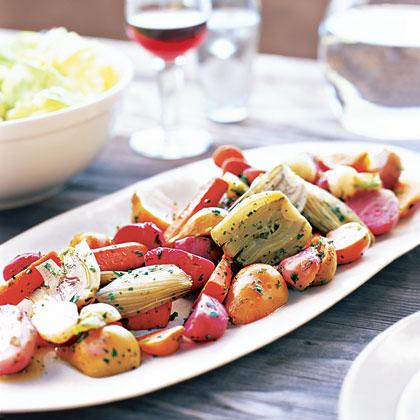 Roast Vegetables with Vinaigrette Recipe