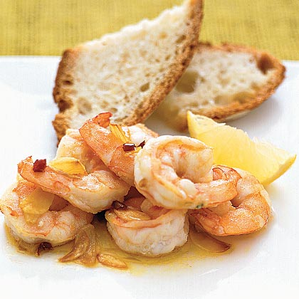 Shrimp With Garlic in Olive Oil
