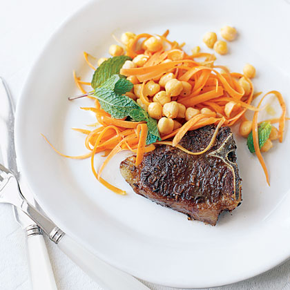 Spiced Lamb Chops with Chickpeas Recipe