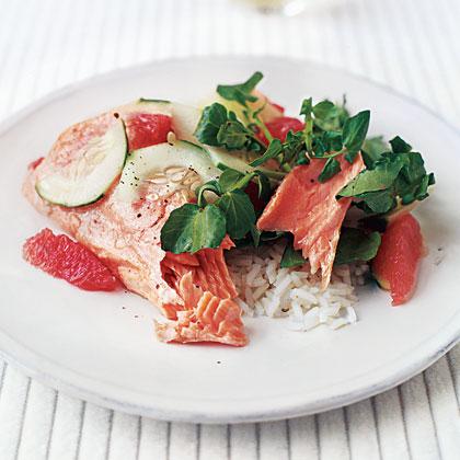 Citrus Salmon with Watercress Salad