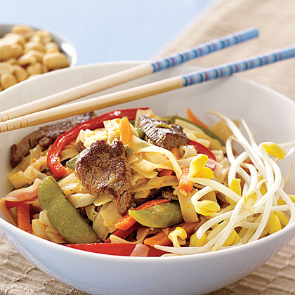 Rice Noodles with BeefRecipe