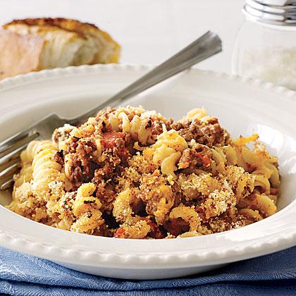 Ground beef pasta casserole recipe